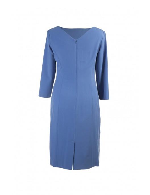 Klasyczna niebieska sukienka