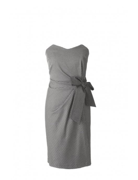 Corset dress - black and white