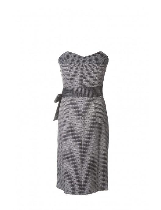 Sukienka gorsetowa - biało...