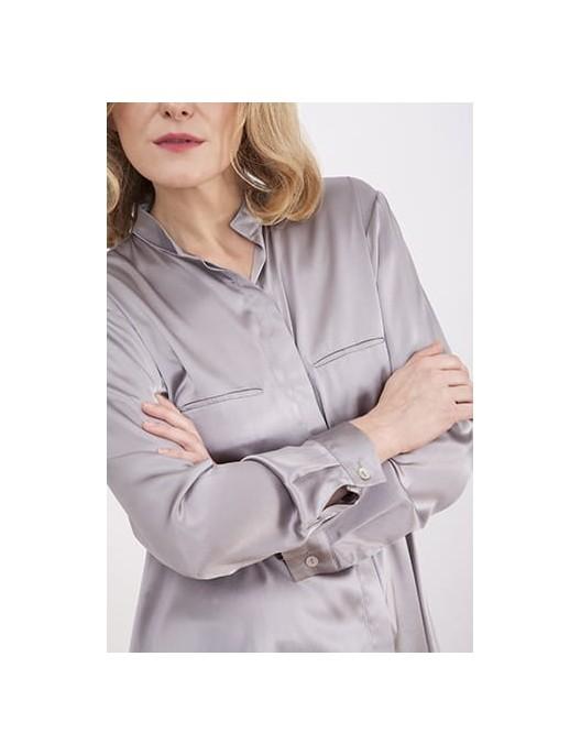 Silk shirt in siler color
