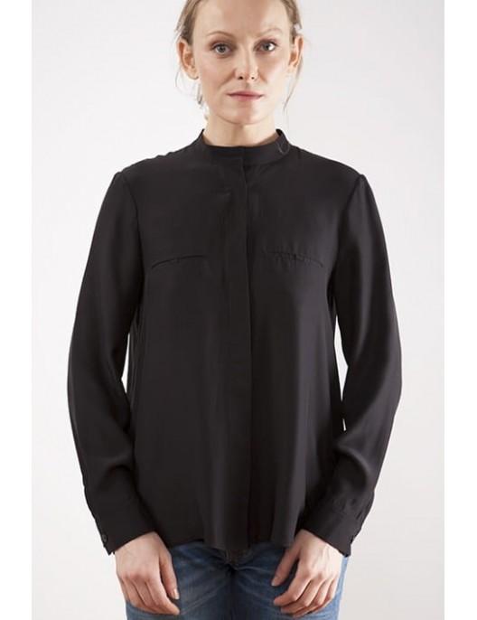 Koszula jedwabna czarna