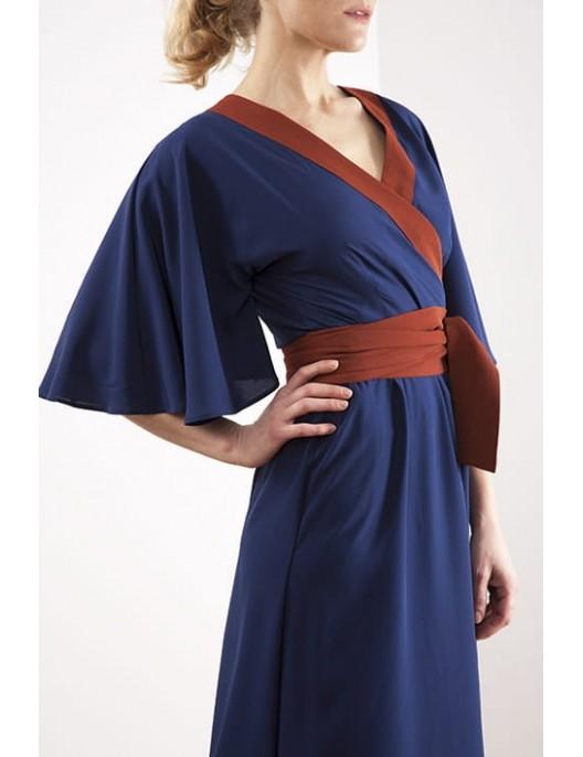 Kimono silk dress