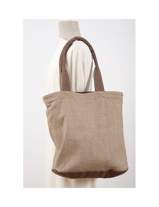 Beżowa torba typu shopper