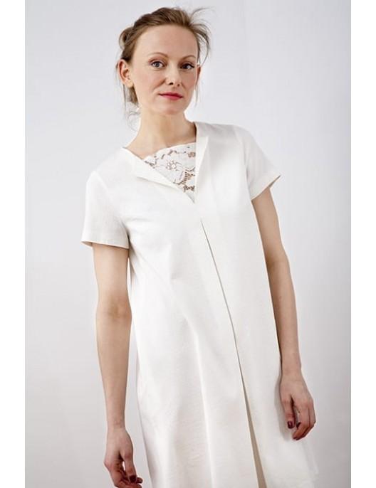 Twiggy dress with lace detail