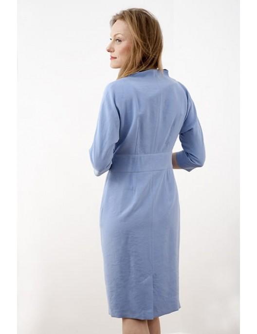 Pencil dress in light blue...