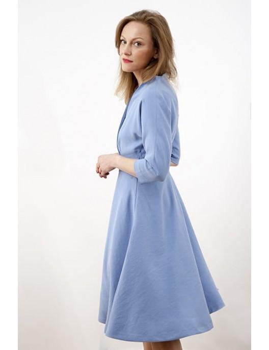 Semi-circle light blue dress