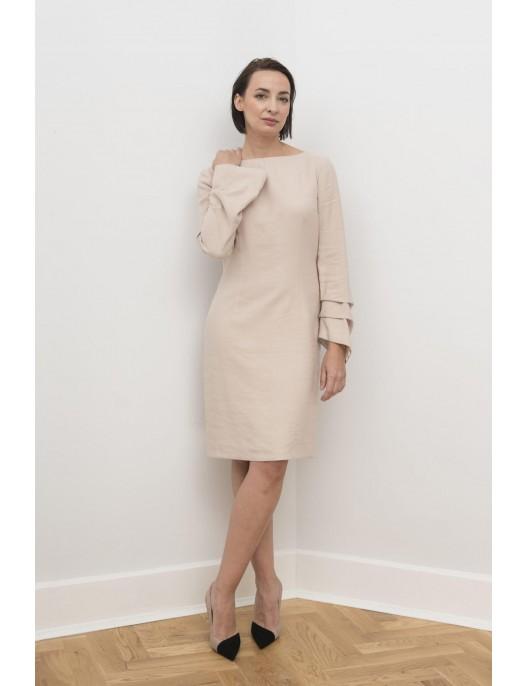 Light beige dress with...