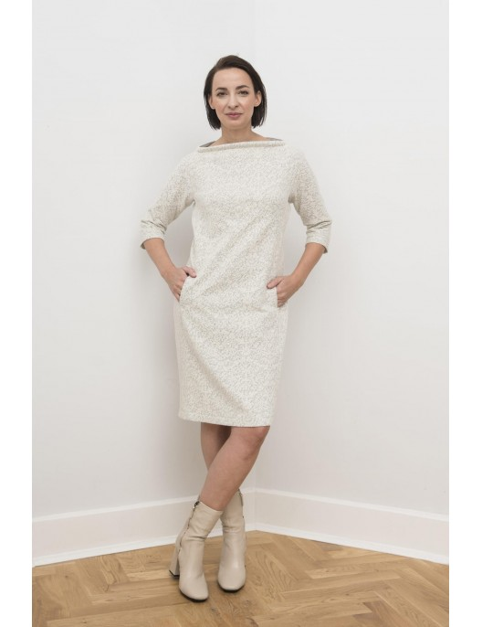 Lace knitwear cotton dress
