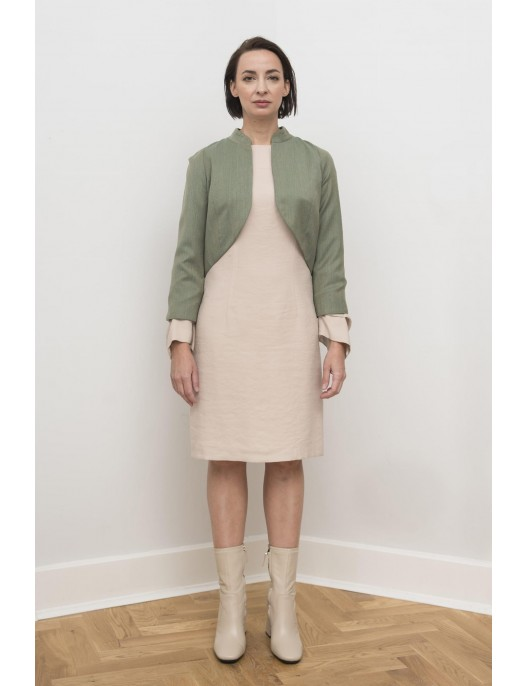 Green jacket - wool with silk
