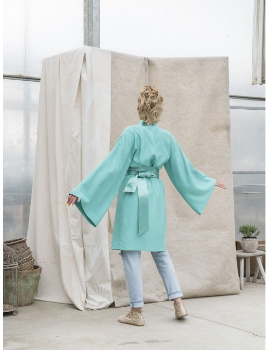 Tunika - turkusowe Kimono