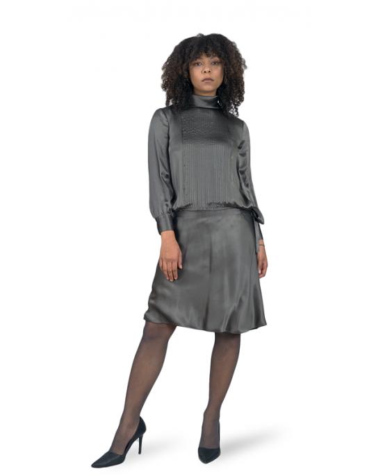 Steel/Silver silk dress...