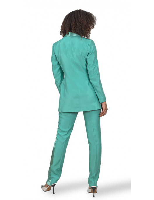 Turquoise Viscose Trousers