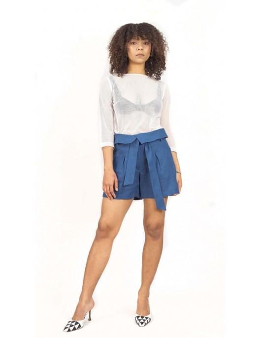 Cotton tulle blouse