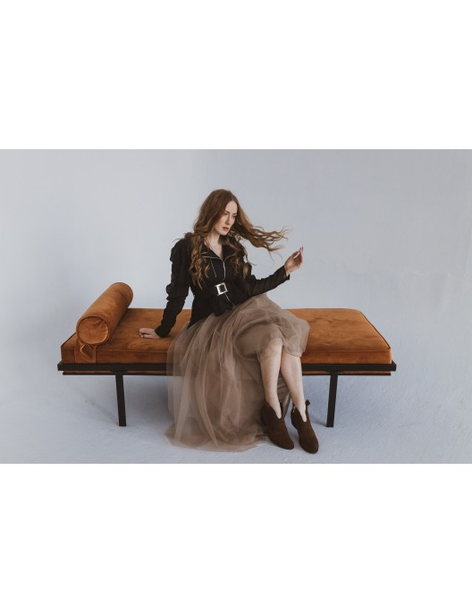 Black blazer - linen with silk