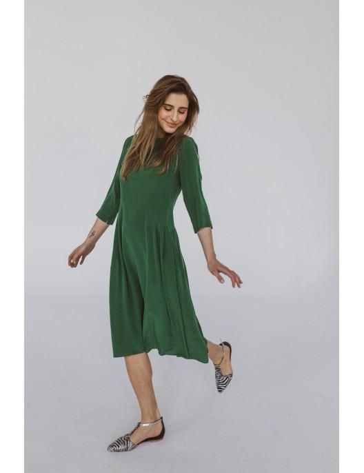 Zielona sukienka jedwabna