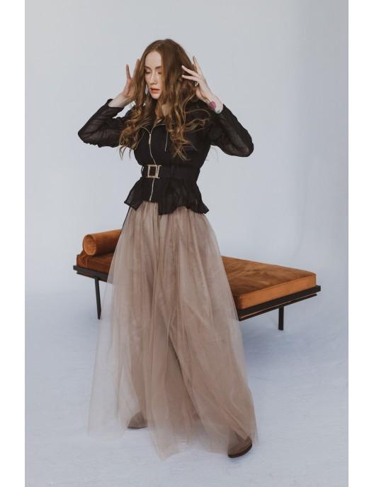 Beige skirt made of 3...
