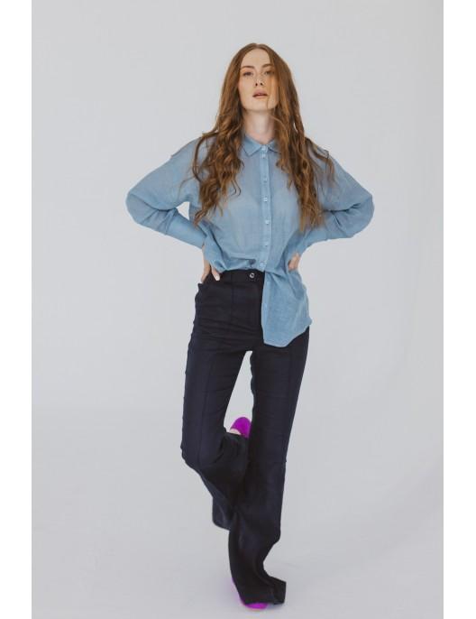 Błękitna koszula z...