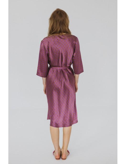 Houndstooth asymetric silk...