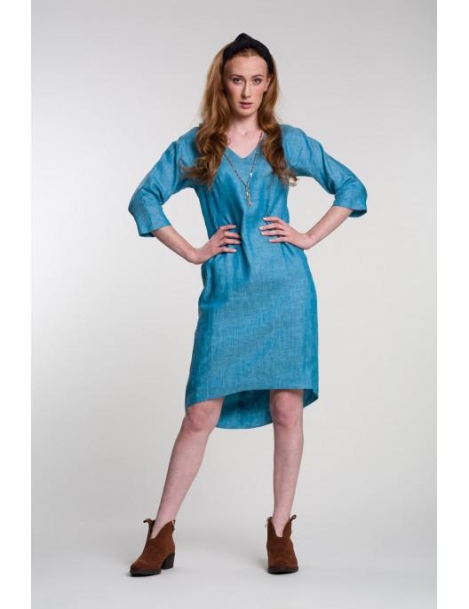 Asymmetric hem linen tunic...
