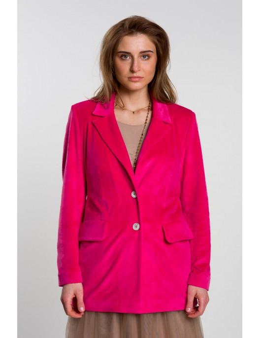 Velour pink jacket