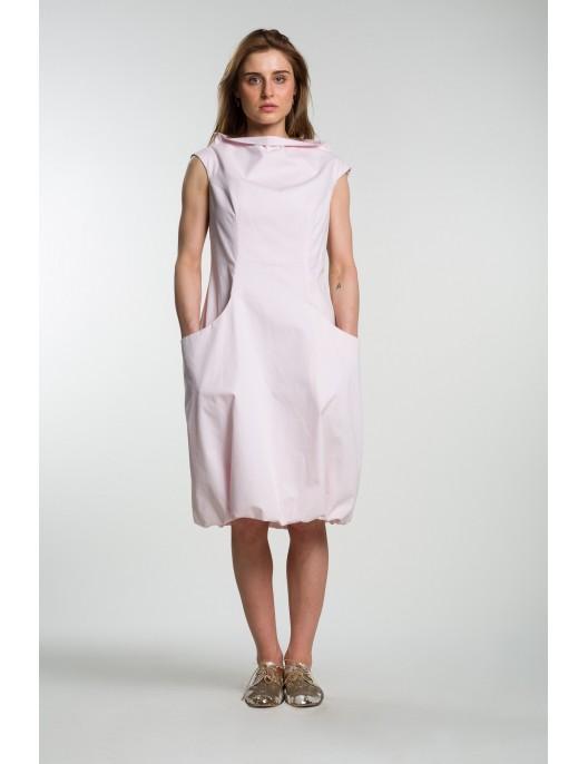 Sukienka bladoróżowa z...