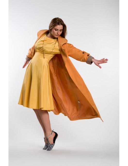 Yellow viscose dress