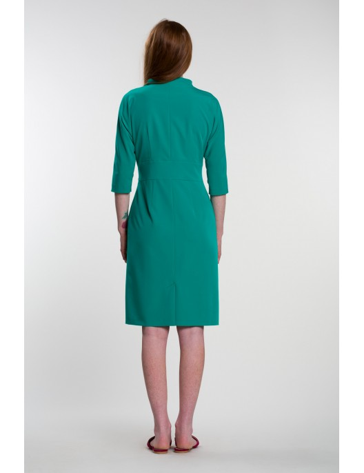 Green dress with buttons