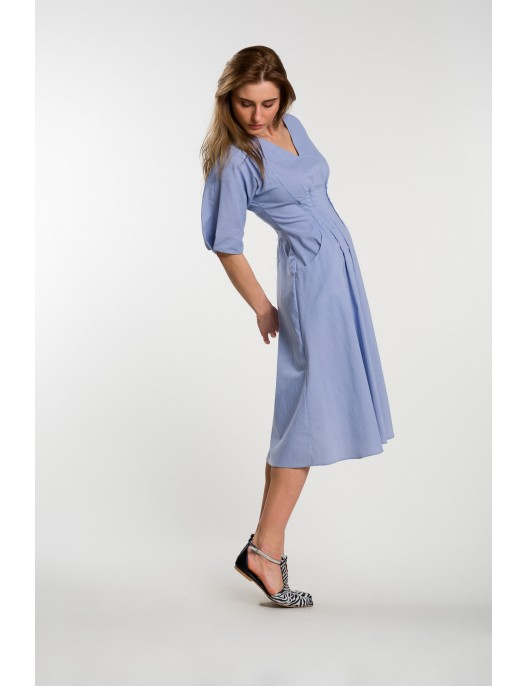 Dress with delicate stripes