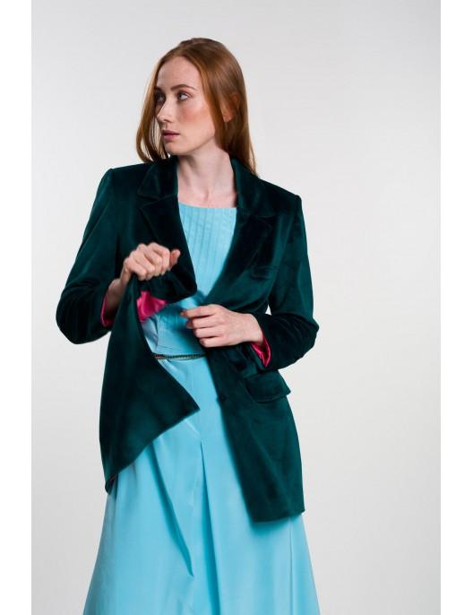 Green velour blazer
