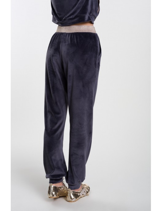 Graphite velor pants