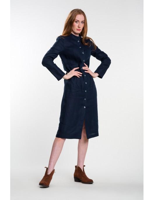 Long navy blue linen shirt...