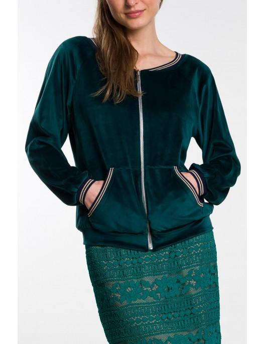 Green velour sweatshirt