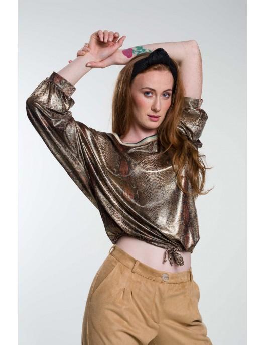 Snake pattern blouse