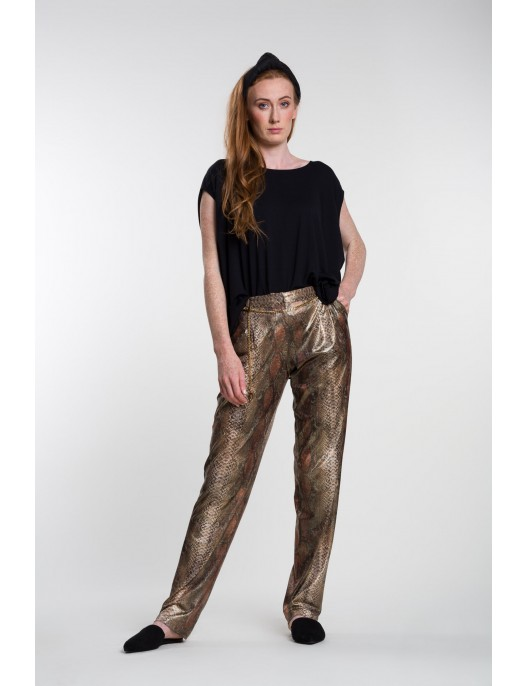 Snake pattern trousers